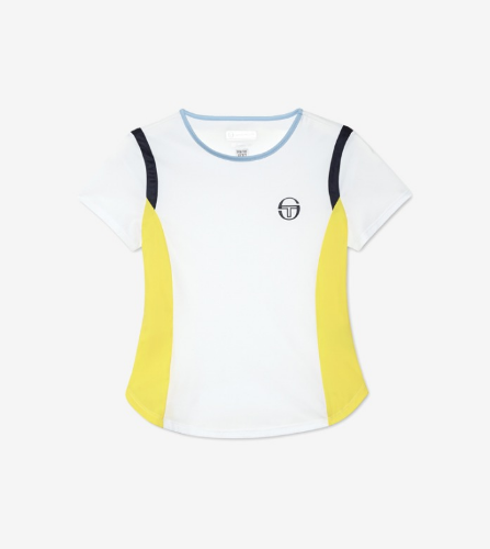 GRACE T-SHIRT [WHITE/LIGHT YELLOW]