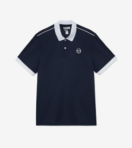 CLUB TECH POLO [NAVY/WHITE]