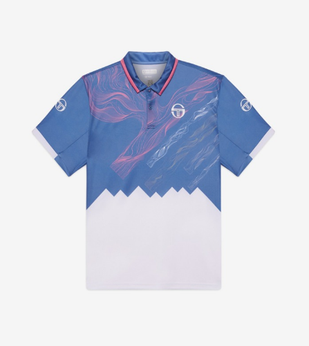 LIQUIFY POLO [FEDERAL BLUE/WHITE]