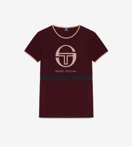 INDIRA T-SHIRT [PLUM/ATLANTIC DEEP]